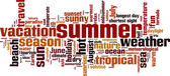 Summer word cloud — Stock Vector