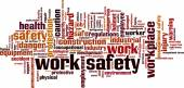 Work safety word cloud — Stock Vector