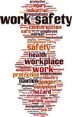 Work safety word cloud — Vetor de Stock