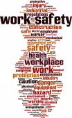 Work safety word cloud — Stock vektor