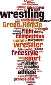 Wrestling word cloud — Vector de stock