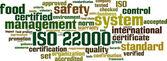 ISO 22000 word cloud — Stock Vector