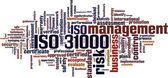 ISO 31000 word cloud — Stock Vector