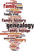 Genealogy word cloud — Stock Vector
