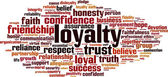 Loyalty word cloud — Stock Vector