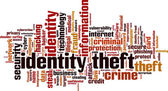 Identity theft word cloud — Stock Vector