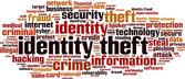 Identity theft word cloud — Stock Vector