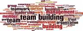 Team building word cloud — Stock Vector