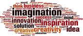 Imagination word cloud — Stock Vector