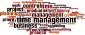 Time management word cloud — Stock Vector