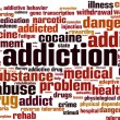 Drug addiction word cloud — Stock Vector #62105053