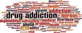 Drug addiction word cloud — Stock Vector
