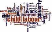 Child labour word cloud — Stock Vector