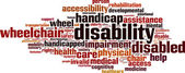 Disability word cloud — Vecteur