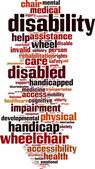 Disability word cloud — Stock Vector