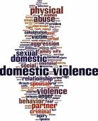 Domestic violence word cloud — Stock Vector