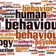 ������, ������: Human behaviour word cloud