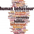 Постер, плакат: Human behaviour word cloud
