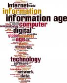 Information age word cloud — Vecteur