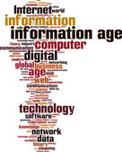 Information age word cloud — Vetor de Stock