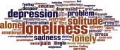 Loneliness word cloud — Stock Vector