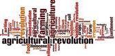 Nuvem de palavra revolução agrícola — Vetor de Stock