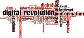Digital revolution word cloud — Vetor de Stock