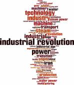 Industrial revolution word cloud — Cтоковый вектор