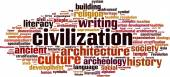 Civilization word cloud — Vettoriale Stock