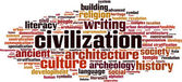 Civilization word cloud — Stock Vector