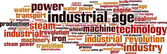 Industrial age word cloud — Stock Vector
