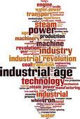 Industrial age word cloud — Stock Vector