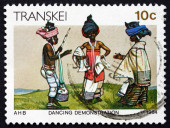 Postage stamp Transkei, South Africa 1984 Dance Demonstration — Stok fotoğraf
