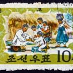 Postage stamp North Korea 1963 Tale of Hung Bu — Stock Photo #63154231