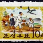 Postage stamp North Korea 1963 Tale of Hung Bu — Stock Photo #63155009