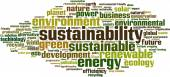 Sustainability word cloud — Stock Vector