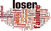 Loser word cloud — Stock Vector
