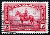 Postage stamp Canada 1935 Royal Canadian Mounted Police — Stock Photo