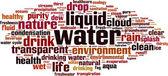 Vatten word cloud — Stockvektor