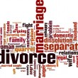 Divorce word cloud — Stock Vector #63999447