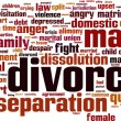 Divorce word cloud — Stock Vector #63999603