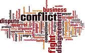 Conflict word cloud — Stock Vector