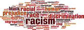 Racism word cloud — Stock Vector