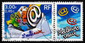 Postage stamp France 2000 Start of the 3rd Millennium — Stock Photo