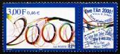 Postage stamp France 1999 Best Wishes for Year 2000 — Стоковое фото