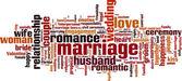 Äktenskap word cloud — Stockvektor