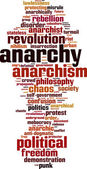Anarchy word cloud — Stock Vector