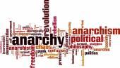 Anarchy word cloud — Stock Vector