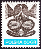 Postage stamp Poland 1971 Paper Cut-out, Folk Art — Stock Photo