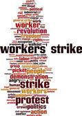 Workers' strike word cloud — Stock Vector